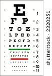 eye chart  in vector format ... | Shutterstock .eps vector #2320251