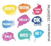 colorful speech bubbles with... | Shutterstock .eps vector #232034746