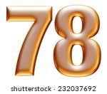 7   8 gold number on white... | Shutterstock . vector #232037692
