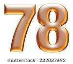 7   8 gold number on white... | Shutterstock . vector #232037692