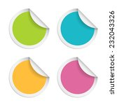 vector round stickers with... | Shutterstock .eps vector #232043326