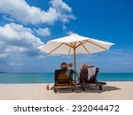 couple on the beach in bali... | Shutterstock . vector #232044472