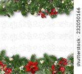 christmas border on white... | Shutterstock . vector #232050166