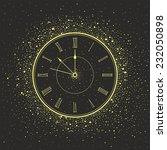 new year clock | Shutterstock .eps vector #232050898
