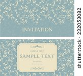 et of retro invitations or... | Shutterstock .eps vector #232053082