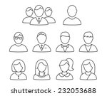 Vector User Profile Icon Set