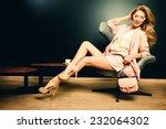 portrait of a beautiful... | Shutterstock . vector #232064302