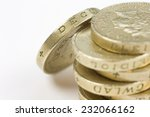 Stack Of One Pound Coins On A...