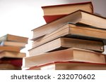 stack of old books isolated on...   Shutterstock . vector #232070602