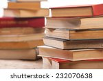 stack of old books isolated on...   Shutterstock . vector #232070638