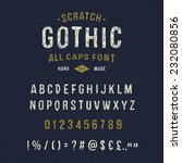 hand crafted retro font... | Shutterstock .eps vector #232080856
