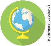 globe  modern flat icon with... | Shutterstock .eps vector #232083475