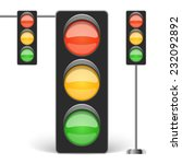 Traffic Light Vector...