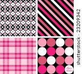 Four Valentine Patterns Vector