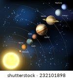 solar system illustration of... | Shutterstock . vector #232101898
