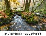 Old Wooden Bridge Crossing A...