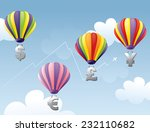 hot air balloons with four... | Shutterstock .eps vector #232110682