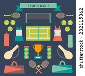 set of colorful tennis icons... | Shutterstock .eps vector #232115362