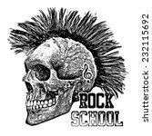 t shirt graphics skull print...   Shutterstock .eps vector #232115692