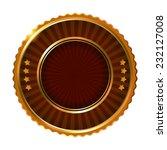 empty golden brown label.... | Shutterstock .eps vector #232127008