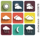 flat design weather icons set...