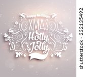 christmas typographic label for ... | Shutterstock .eps vector #232135492
