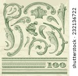 Floral Elements  In Dollar...