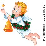cute christmas angel with star  ...   Shutterstock .eps vector #232140766