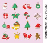 christmas vector | Shutterstock .eps vector #232143082