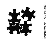 vector black puzzles icon on... | Shutterstock .eps vector #232143502
