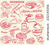 chinese food icons vector...   Shutterstock .eps vector #232145356