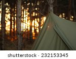 camping tent in the forrest... | Shutterstock . vector #232153345