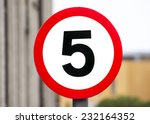 speed limit 5 km h  road sign... | Shutterstock . vector #232164352