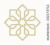 geometric arabic pattern | Shutterstock .eps vector #232173712