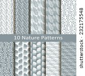 set of ten nature patterns | Shutterstock .eps vector #232175548