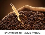Jute Sack Of Coffee Beans With...