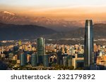 View Of Santiago De Chile With...