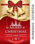 merry christmas and happy new... | Shutterstock .eps vector #232185316