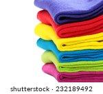 pile of colorful socks on white ... | Shutterstock . vector #232189492