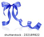 blue bow isolated on the white... | Shutterstock . vector #232189822