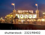 Brighton Pier At Night  Sussex...