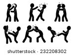 fight. human silhouettes... | Shutterstock .eps vector #232208302