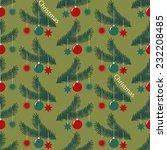 seamless christmas vector... | Shutterstock .eps vector #232208485