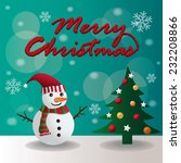 merry christmas vector...   Shutterstock .eps vector #232208866