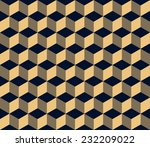 gold on black seamless... | Shutterstock .eps vector #232209022