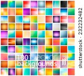 100 abstract colorful smooth... | Shutterstock .eps vector #232232482