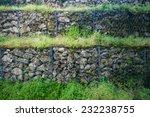 protective gabion wall  | Shutterstock . vector #232238755