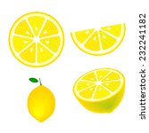 collection of lemons  isolated... | Shutterstock .eps vector #232241182