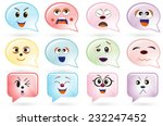 emoticons of various face | Shutterstock .eps vector #232247452