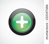 plus sign icon green shiny...